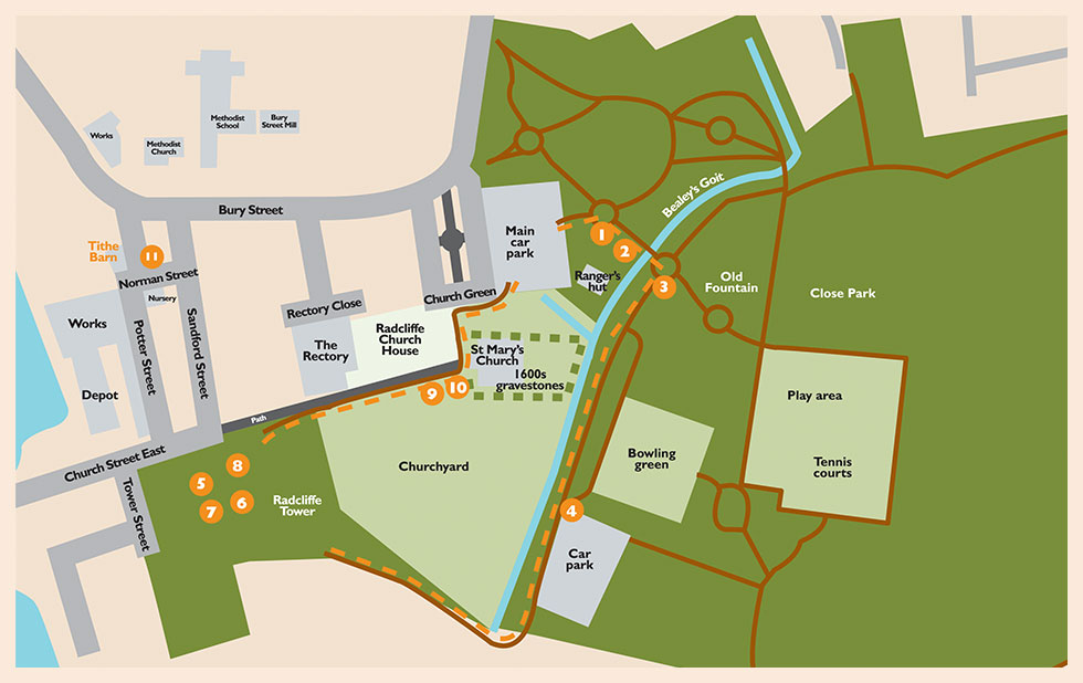 Radcliffe Heritage Map